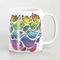 les mis Mugs featuring Devuélveme mis pajaritos by Ju Tiscornia
