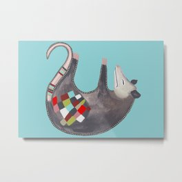 Sleepy Time Opossum Metal Print