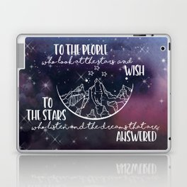 To the people who look the stars and wish... Laptop & iPad Skin