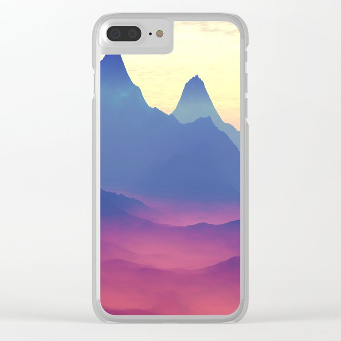 Mountains of Another World Clear iPhone Case