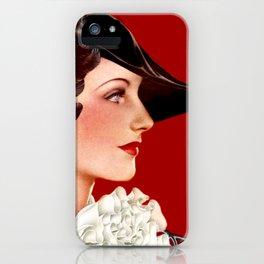Art Deco Red iPhone Case