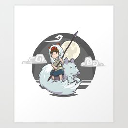 Mononoke (Princess Mononoke) Art Print