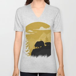 Bear Valley Unisex V-Neck