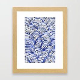 Ondas Framed Art Print