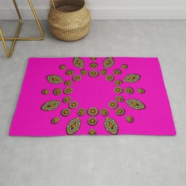 Sweet hearts in  decorative metal tinsel Rug