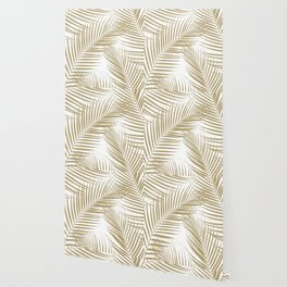 Palm Leaves - Gold Cali Vibes #1 #tropical #decor #art #society6 Wallpaper