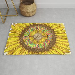 Sunflower Compass Rug