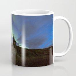 Kong Oscar IIs kapell under aurora sky Coffee Mug