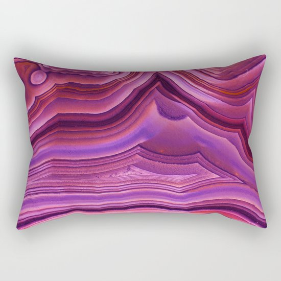 Mystic agate stone Rectangular Pillow