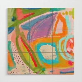 Shapes and Layers no.18 - Abstract Painting Tropical Wood Wall Art
