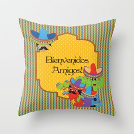 Fiesta Time! Throw Pillow