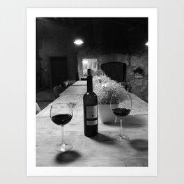 Wine in Tuscany Art Print