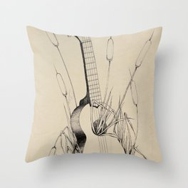 Ukulele Throw Pillow
