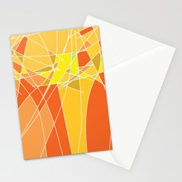 Abstract geometric orange pattern, vector illustration Stationery Cards