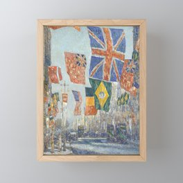Avenue of the Allies, Great Britain, 1918 by Childe Hassam Framed Mini Art Print