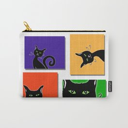 Cats in Squares Carry-All Pouch