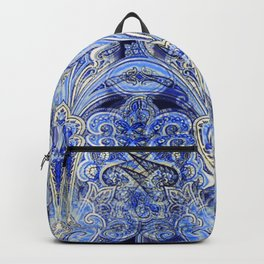 Blue Lights  #society6 #decor #buyart Backpack
