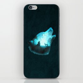 Blue Wolf iPhone Skin