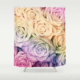 Some people grumble - Colorful Roses - Rose pattern Shower Curtain