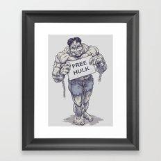 Free Hulk Framed Art Print