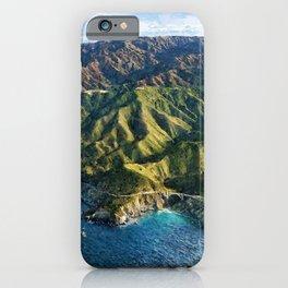 Pacific Coast Highway, Coastal California Santa Lucia Mountains landscape painting iPhone Case