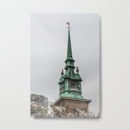 Steeple of All Hallows by the Tower Anglican Church near Tower of London England Metal Print