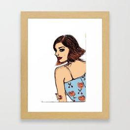 Cherry Rose Girl Framed Art Print