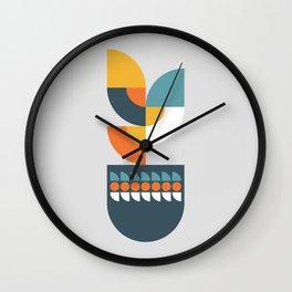 Geometric Plant 01 Wall Clock