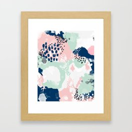 Kimmie - abstract painting modern hipster trendy urban city painterly boho home college dorm decor  Framed Art Print