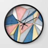 prism Wall Clocks featuring Prism by Daniel T.
