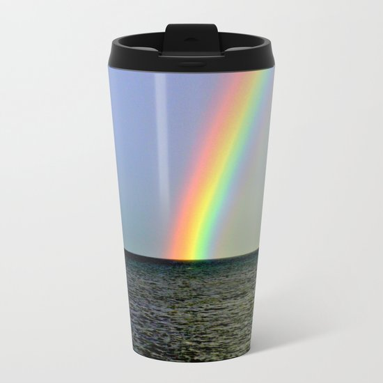 Pot of gold over the Bay Metal Travel Mug