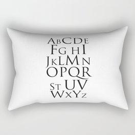 ABC Alphabet Typography Rectangular Pillow
