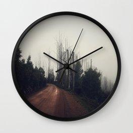 Mountain Road Wall Clock