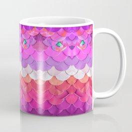 Pink Mermaid Scales Print Coffee Mug