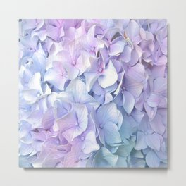 Soft Pastel Hydrangea Metal Print
