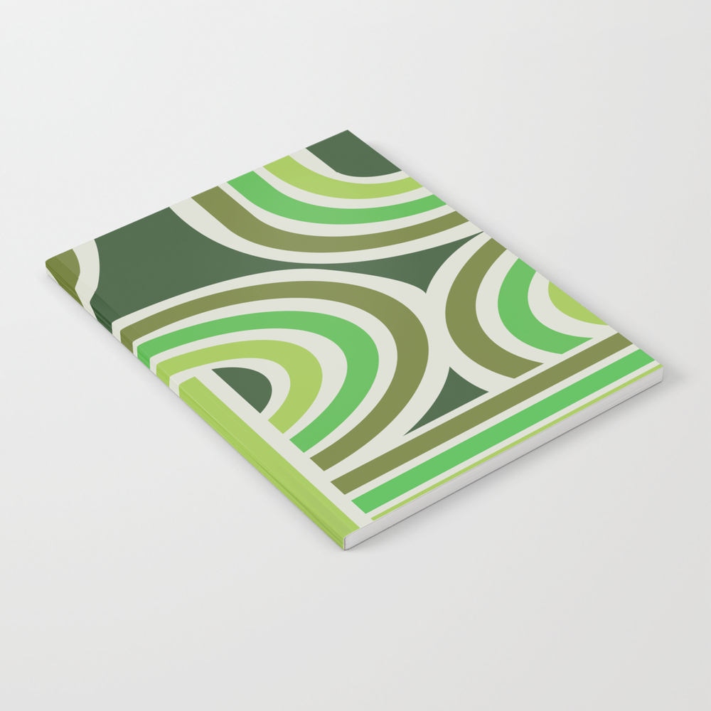 70's Green Funky Notebook by Henrikbakmann NBK7828784