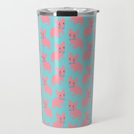 Pink Frenchie - What's Up? Travel Mug
