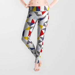 Geometric Pattern Vibes in White Leggings