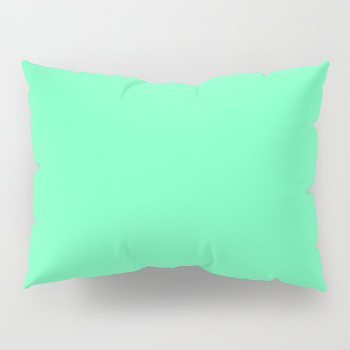 Spring - Pastel - Easter Green Solid Color 3 Pillow Sham