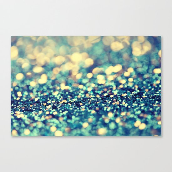 Blue and Silver - an abstract photograph Canvas Print
