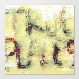 true places graffiti 1 Canvas Print