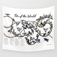 tits Wall Tapestries featuring Tits of the World by Jada Fitch