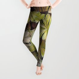 Leafy Abstract Leggings