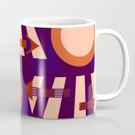 The direction of the road and the sunset Coffee Mug