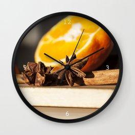 Appelsin Stjerne Wall Clock