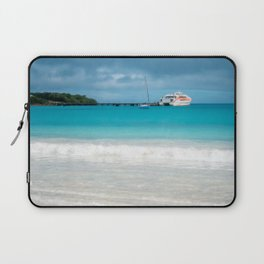 Pier and ferry boat at Kuto Bay in New Caledonia. Laptop Sleeve