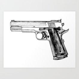 GUN Art Print