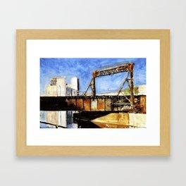 Railway Bridge Five Roses reflected II Framed Art Print