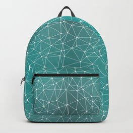 Triangulated Marrs Green Dotted Pattern Backpack