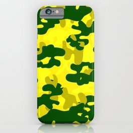 Camouflage (Yellow) iPhone Case